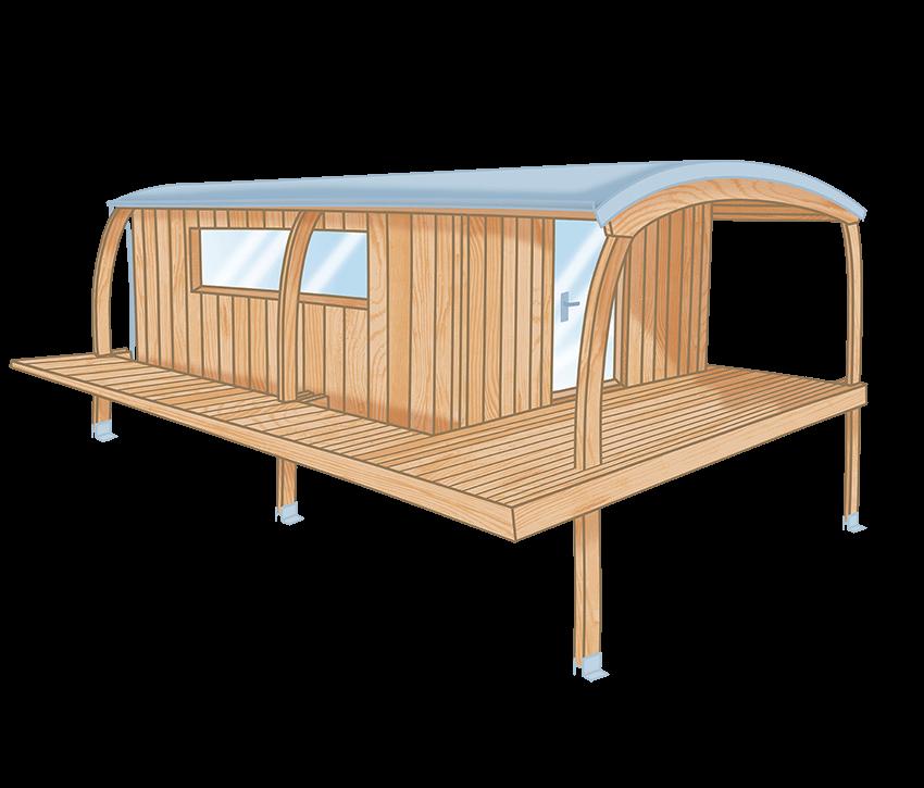 Cabane en bois sans permis de construire cabanologue for Cabanes en bois habitables