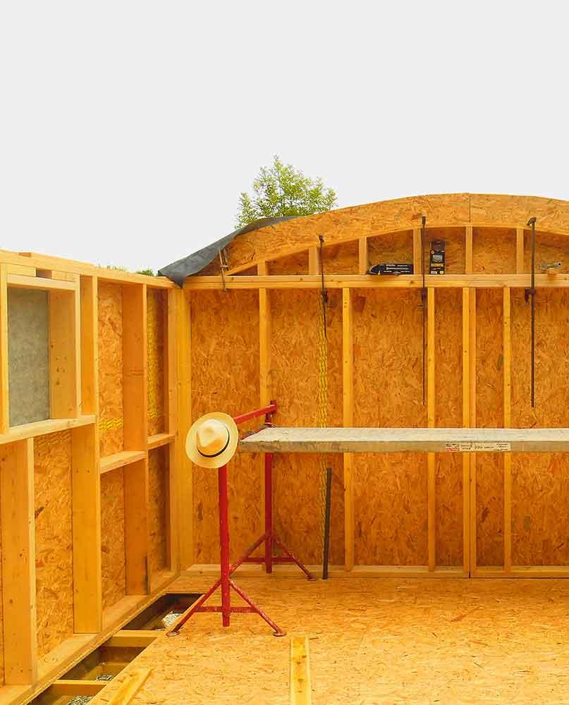 ossature bois et mat riaux pour isolation naturelle cabanologue. Black Bedroom Furniture Sets. Home Design Ideas