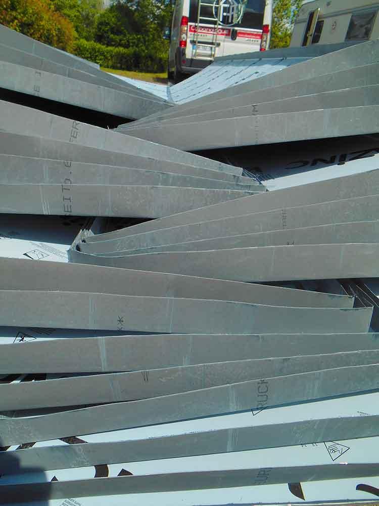 matériau zinc pour toiture cabane