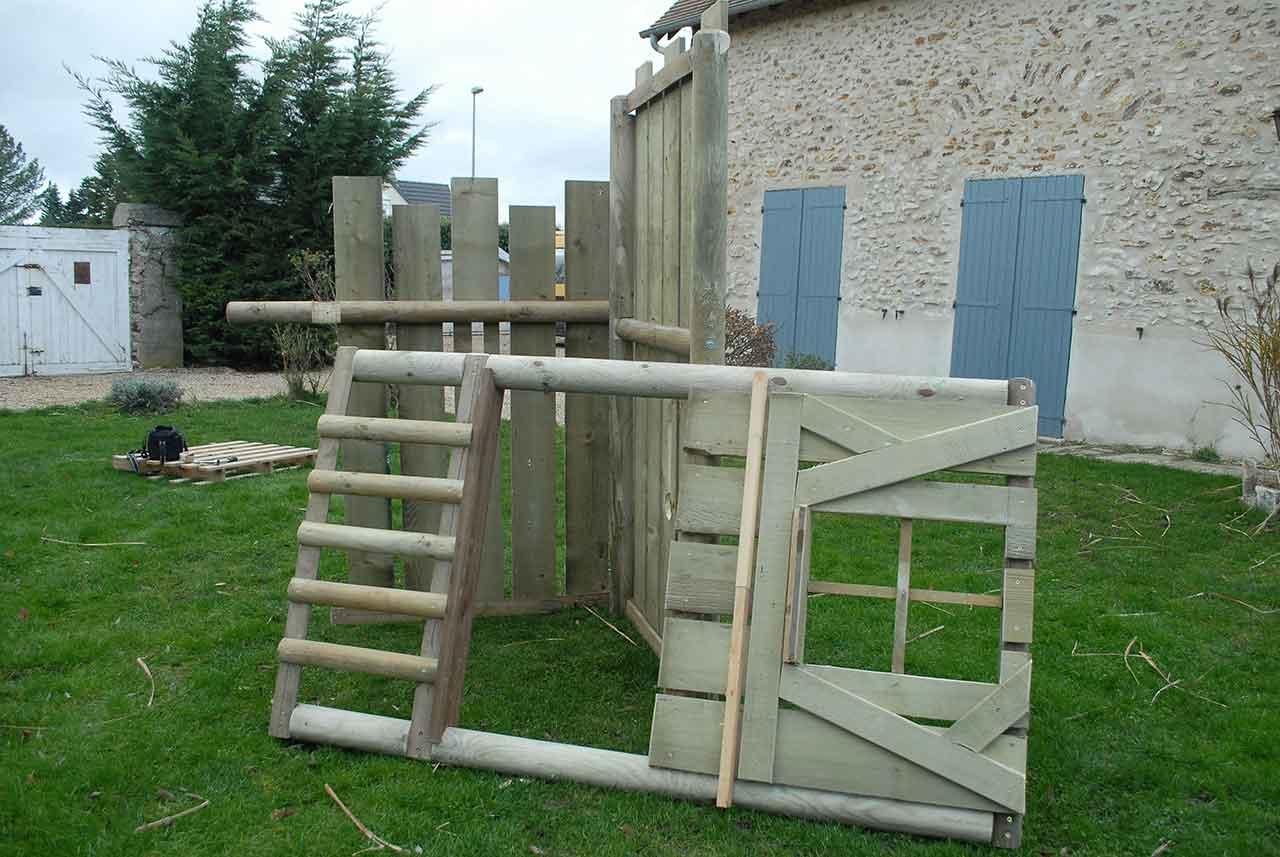 Construction Cabane Enfant tout cabane chateau fort avec échoppe - cabanologue