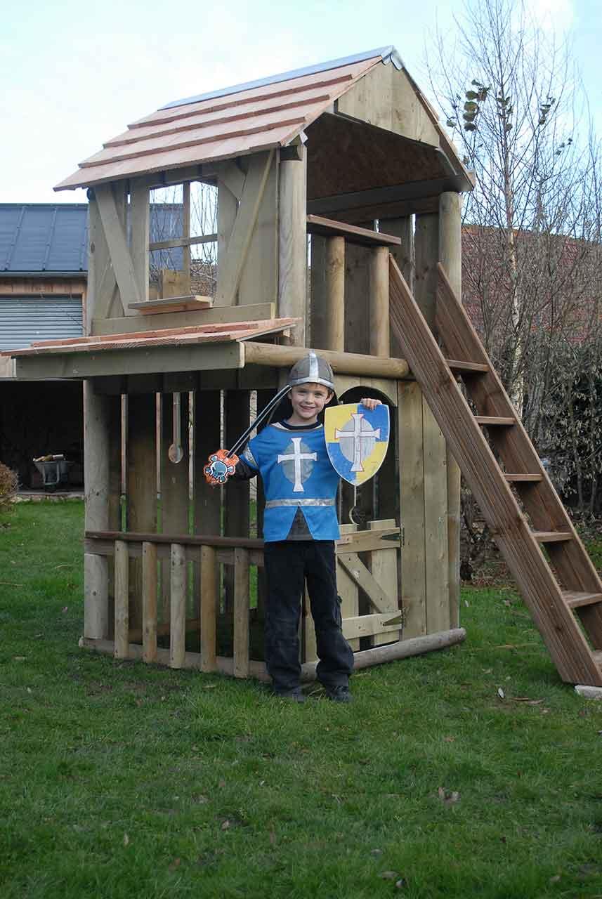 Construction Cabane Enfant destiné cabane chateau fort avec échoppe - cabanologue