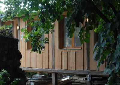 façade extérieure de la cabane