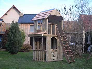 Cabane pour enfant chateau fort