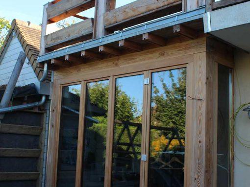 Extension maison avec terrasse