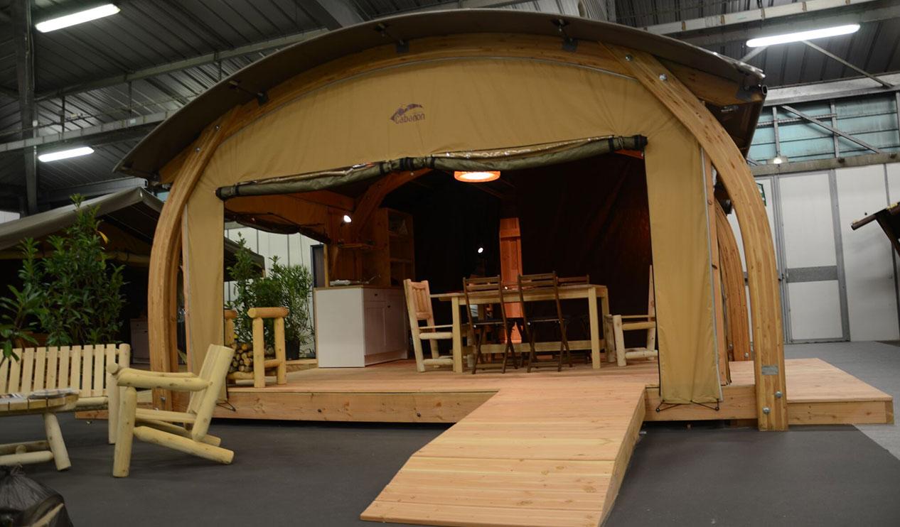 La tente cabane Natuna sur le salon SETT de Montpellier