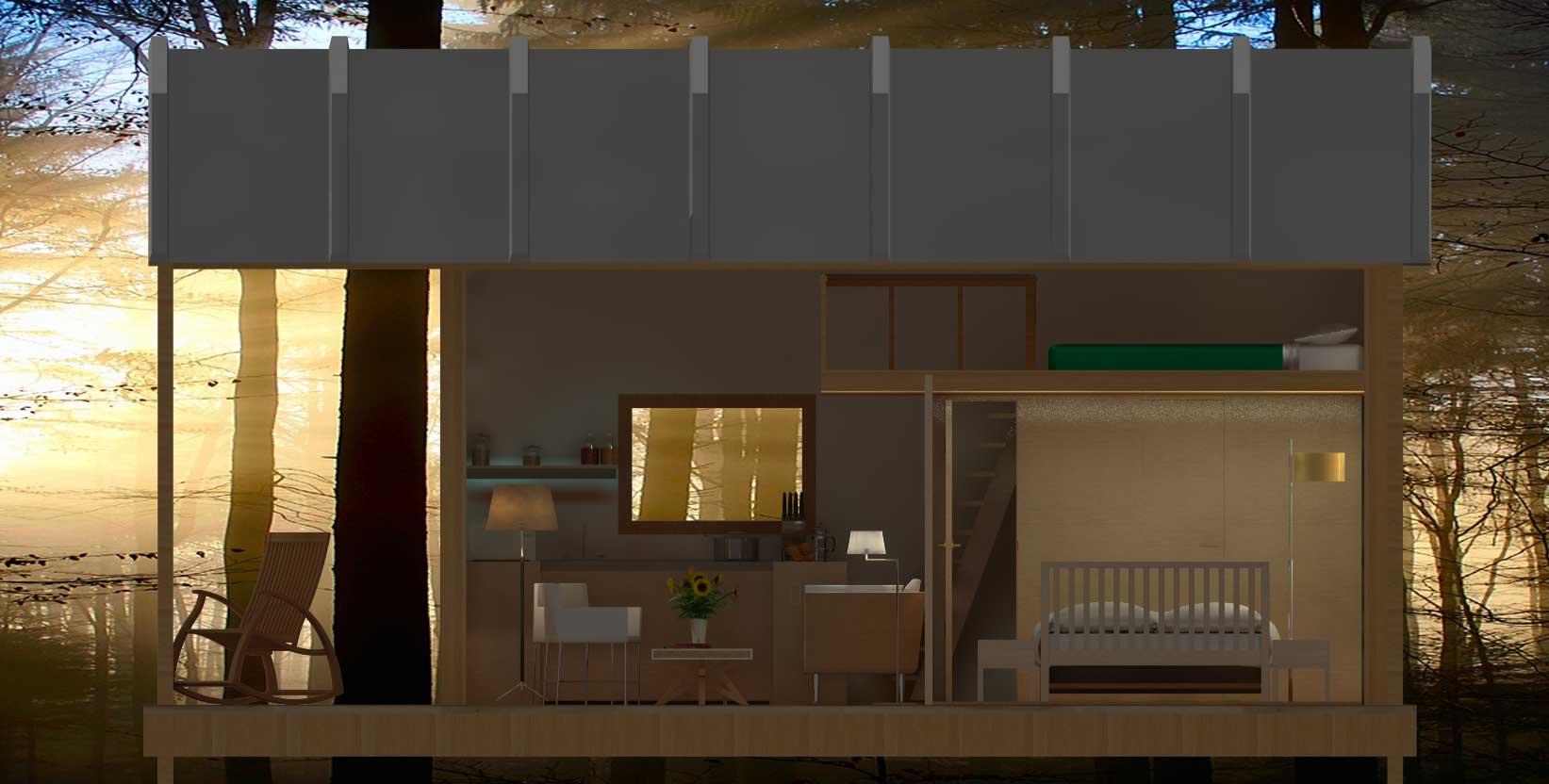 cabane hll exoscab 4 mezzanine de nuit