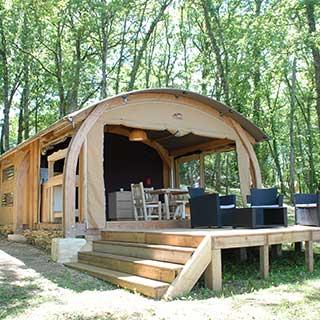Tente lodge Natuna avec terrasse